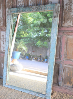 Bevelled Mirror made from a mid 19th Century Temple Chamber Doorway, Patan, Gujarat